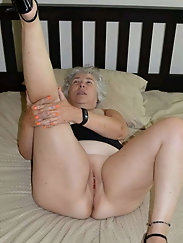 Mature prostitutes are masturbating