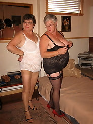 Grannies in Girdles Posing