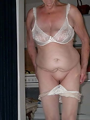 816 - old granny mature amateur sexy panties hairy wives