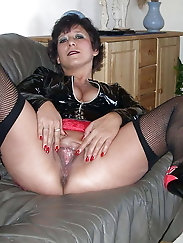Sexy Grandma Legs, Spread and Ready to be Fuck 10