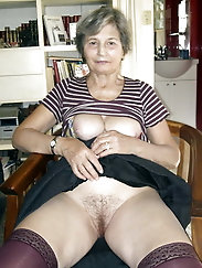 Cock addicted old girl is revealing her pussy