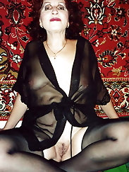 Granny is waiting for you in her sexy new negligee