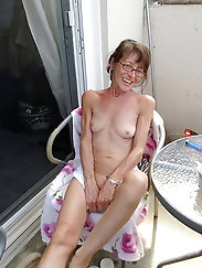 Skinny granny is a dirty slut with a big cunt