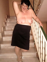 Aged mom is masturbating
