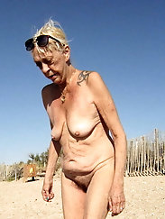 Glamorous mature mademoiselle looks excited
