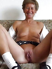 Naughty mature MILF is spreading hips