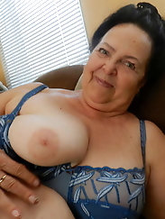Crazy experienced granny gets nude