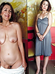 Granny and mature dressed and then undressed selection 6