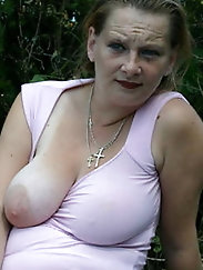 Skinny older gilfs with giant boobs